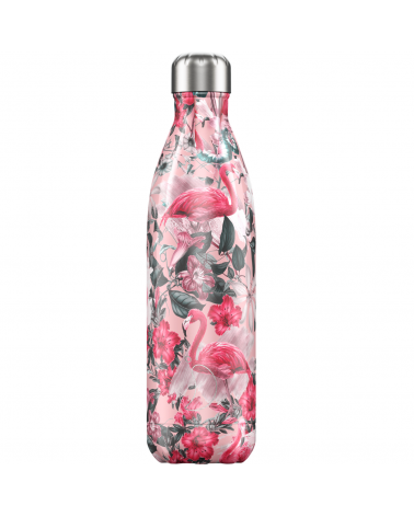 Chilly's bottle tropicale con fenicotteri
